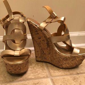 Gold Wedge Heel